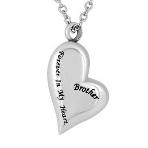 Jewelry - Forever in My Heart Brother Urn Necklace NWT